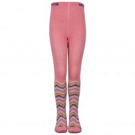 MELTON Strømpebukser Stripes & Glitter - Dusty Rosa