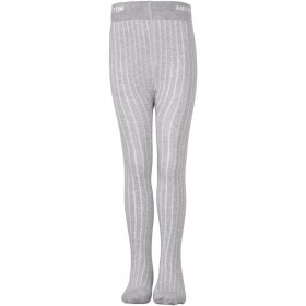 MELTON Bamboo Tight w. lurex - Light Grey Melange