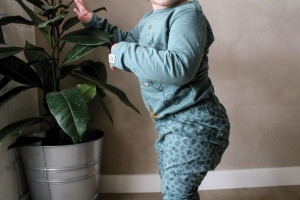 Papfar Leggings, støvet grøn