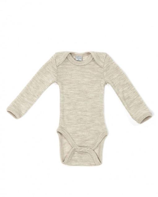 Smallstuff l/æ bodystocking i 100% Merino uld natur