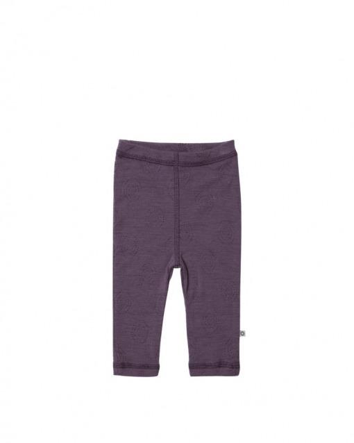 Smallstuff Leggings i mørk rosa samt 100% Merino uld