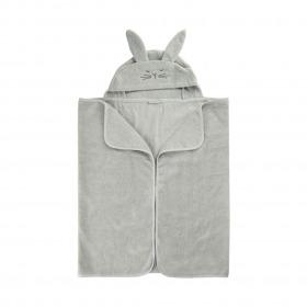 Pippi badehåndklæde med kanin hætte