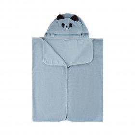 Pippi badehåndklæde med panda hætte