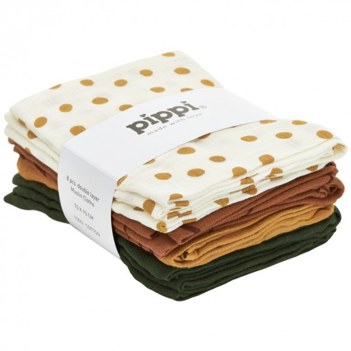 Pippi Muslin Clothes 8- Pack Adobe