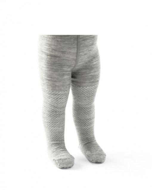 Smallstuff Uld strømpebukser i grå/sølv