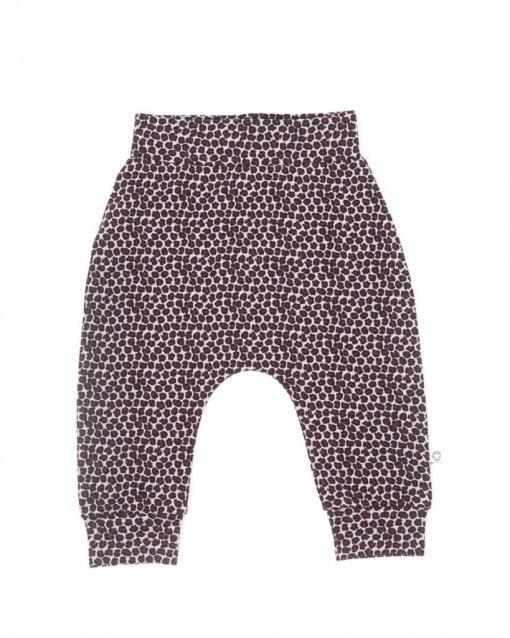 Smallstuff babybukser blårosa leopardmønster