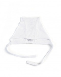 Smallstuff babyhjelm i hvid bomuld