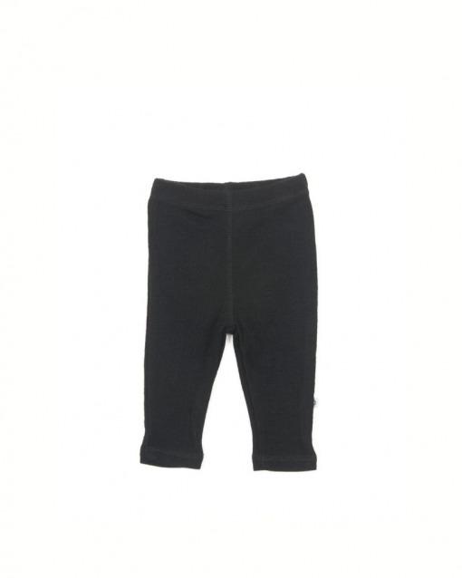 Smallstuff leggings sort 100% Merino Uld