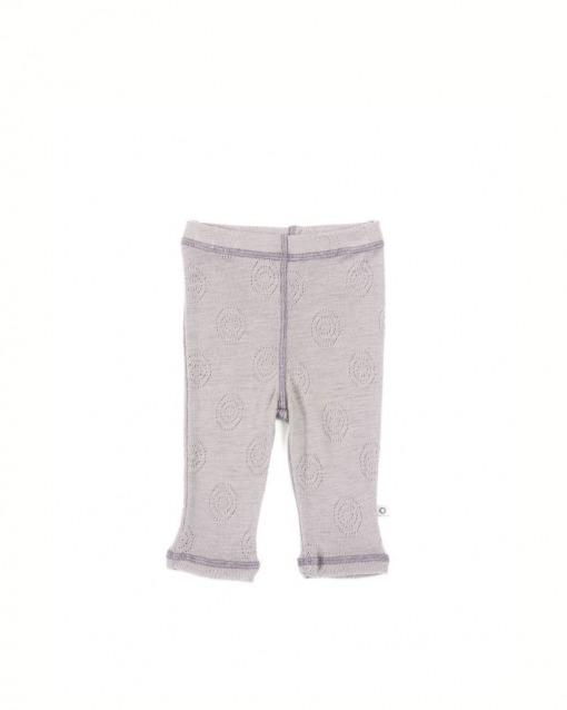 Smallstuff leggings i kold rosa og 100% Merino uld
