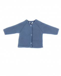 Smallstuff Cardigan i Merino Uld-Denim