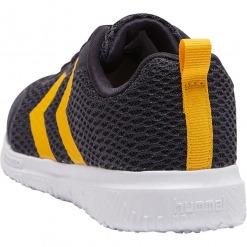Hummel – Actus ML Jr. Graphite / Navy Sneaker m. gule vinkler