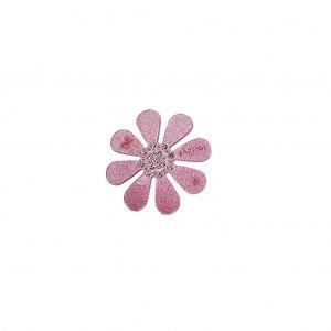 Bows by Stær Blomsterspænde - Rosa Glitter
