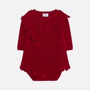 Hust&claire magie romper roed front