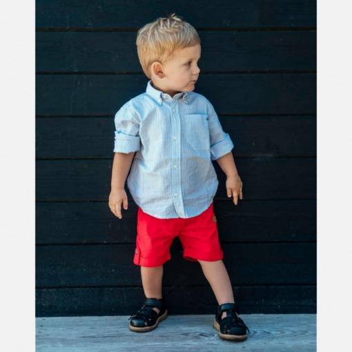 Hust&claire ruben skjorte blå hvid dreng