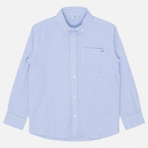 Hust&claire ruben skjorte blå hvid front