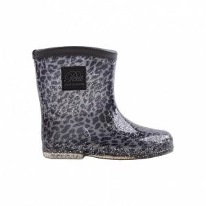 Petit by sofie schnoor Alfred gumistøvle grå glimmer leopard