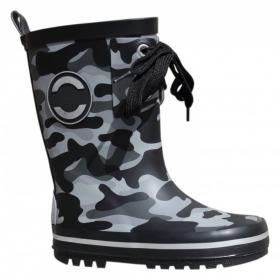 Mikk-Line Gummistoevler Camouflage sort side