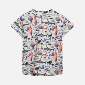 Hust and Claire T-Shirt - Arthur, Blue Glass