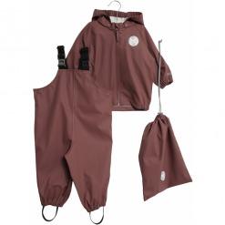wheat pu regntøj charlie jakke bukser og gymnastiktaske 7350b-970
