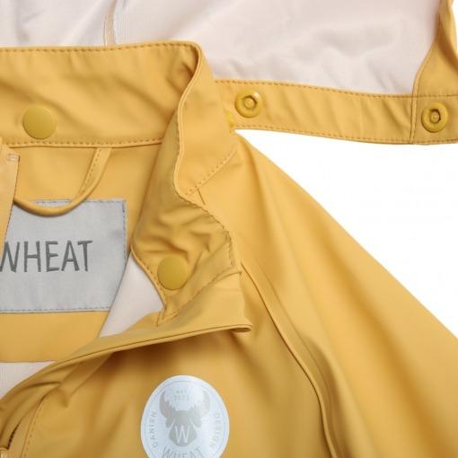 wheat regnjakke corn yellow pu charlie gul 7351b-970