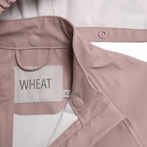 wheat regnjakke charlie dark powder rose 7351b-970