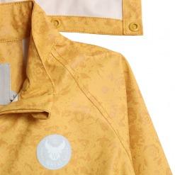 wheat regnjakke yellow flowers pu charlie 7351b-972