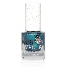 Miss Nella Neglelak Blue The Candles Blå Glimmer