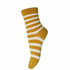 MP Denmark Ankle Elis strømper golden spice - gul striber
