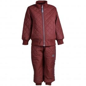 Mikk-Line Duvet Termotøj med Fleece - Madder Brown - For