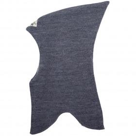 Racing Kids elefanthue uld bomuld grey melange gråmeleret spids hovedform