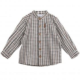 Hust and Claire skjorte Ravn chestnut - brun med ternet mønster - for