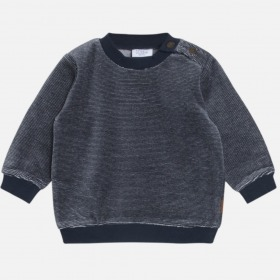 Hust and Claire sweatshirt navy velour m. striber
