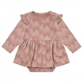 Petit by Sofie Schnoor Rita Kjole Body Rosy Brown - Rosa med print og glimmer detaljer