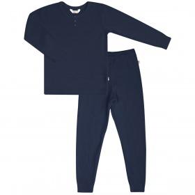 Joha nattøjssæt i økologisk bambus - Navy blå