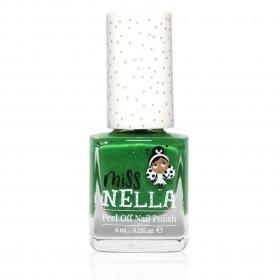 Miss Nella Neglelak Kiss The Frog - Grøn m. Glitter