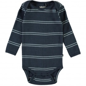 Molo Body Faros - Blue Stripes - støvet navy m. striber ribkvalitet