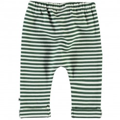 Molo Bukser Sigurd Green Stripe - hvide m. grønne striber