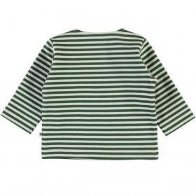 Molo Trøje Dosti - Green Stripe - hvid m. grønne striber