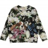 Molo sweatshirt Maxi - Pretty Puppies - Blomster og hundehvalpe print