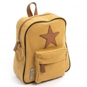 Smallstuff rygsaek Curry - karry - gul m. Læderstjerne