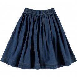 Molo nederdel Bolette - Washed Indigo - Blå denim nederdel - Bag