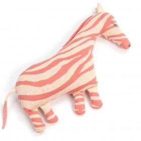 Smallstuff pude zebra - Bubblegum sand - rosa