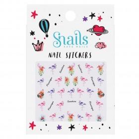 Snails neglestickers klistermærker Flamingoer