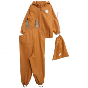 Wheat Charlie regntøj med seler Golden Camel - Gylden - Sæt