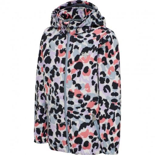Hummel Softshell jakke Blue Fog - leopardprint multifarve