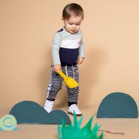Hummel babybukser - Villum - mint og grønne striber - Baby