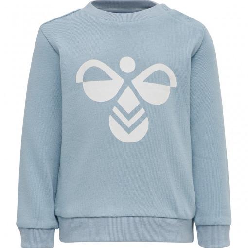 Hummel sweatsæt Arin crewsuit Blue Fog - Lys Blå