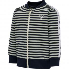 Hummel zip jakke m. striber mint og navy Villum - Baby