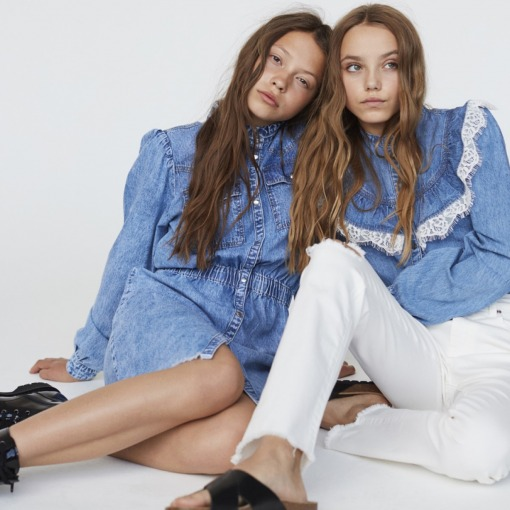 Petit By Sofie Schnoor denim kjole - astra - blå