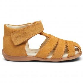 Pom Pom sandaler - Ruskind - Light Muestard Sued - Gul